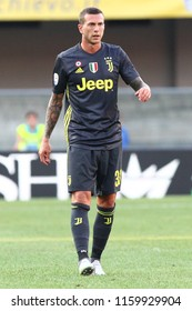 VERONA, ITALY - AUGUST 18,2018: Federico Bernardeschi during football match serie A League 2018/2019 between ChievoVerona vs Juventus at the Bentegodi Stadium in Verona.