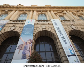 VERONA, ITALY - CIRCA MARCH 2019: World Congress of Families XIII at Palazzo della Gran Guardia palace