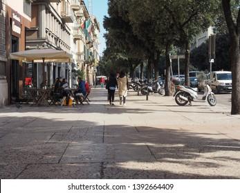 VERONA, ITALY - CIRCA MARCH 2019: Corso Porta Nuova avenue