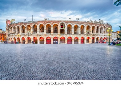 VERONA, ITALY - CIRCA MAY 2014: the Arena di Verona, Italy, circa May 2014. Built by the Romans in the 1st century AD, it is worldwide famous for the large-scale opera performances still given there