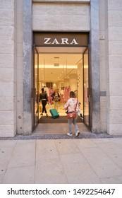 VERONA, ITALY - CIRCA MAY, 2019: entrance to Zara store in Verona.