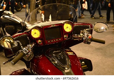 Verona, Italy - jan 20 2017: motor bike expo, motorbike Indian