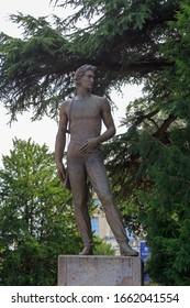 Verona, Italy - July 15, 2019: War Memorial for Freedom - Verona (Monumento ai Caduti per la liberta). The creator of the monument is Mario Salazzari