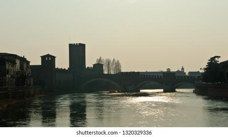 Verona, Italy - March 09, 2011: Castelvecchio City Museum