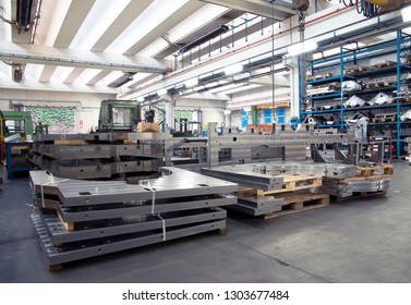 VERONA, ITALY - May 10, 2018 - Mechanical workshop of an Italian company specialized in the production and maintenance of large industrial components