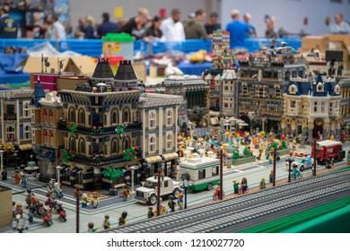VERONA, ITALY, OCTOBER 14, 2018: Lego Bricks Festival at Sant ambroggio di Valpolicella