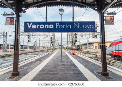 Verona, Italy - September 10th, 2017: Verona Porta Nuova train station in Italy