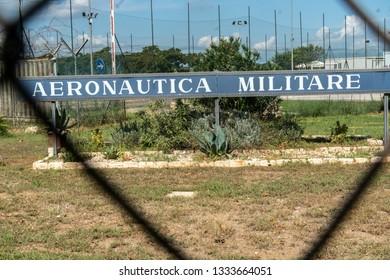 Verona, Italy - September 4, 2018: Banner of the Aeronautica Militare (AM) Italian Air Force, the air force of the Italian Republic