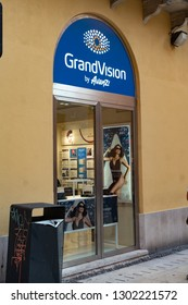Verona, Italy - September 5, 2018: GrandVision store. GrandVision is a global leader in optical retail and operates in more than 40 different countries