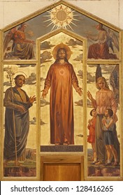 VERONA - JANUARY 27: Heart of Christ painting form 19.cent. on the side altar in basilica San Zeno in January 27, 2013 in Verona, Italy.