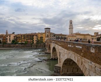 Verona is a magical city, a city of romance and history. Verona, Italy - Oct. 2019