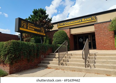 VERONA, NEW JERSEY - AUGUST 3, 2017: Garden State Community Bank at  620 Bloomfield Avenue in Verona. Editorial use only.