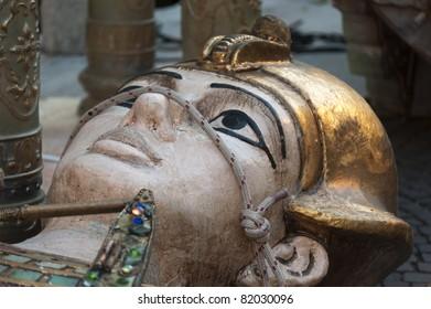 Verona (Veneto, Italy), Arena: fake of woman statue for Turandot