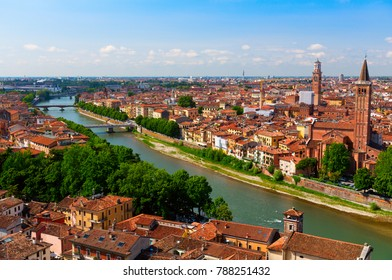 Verona, view of the old town, Italy, panorama