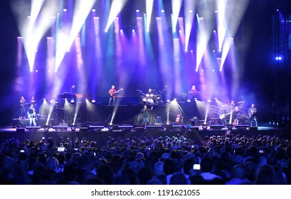 Verona, VR, Italy - September 23, 2018: Live Concert at Verona Arena of ANTONELLO VENDITTI