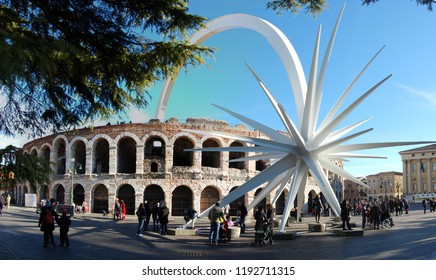 Verona,Italy - January 03 2013: outside panoramic view of Arena