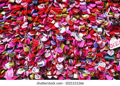 Verona,Italy-December 5, 2017:love padlocks cover the wall at Juliet's House in Verona