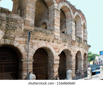 Veronese amphitheater (Arena di Verona). It is the antique amphitheater, the third by the size constructed during an era of Ancient Rome,