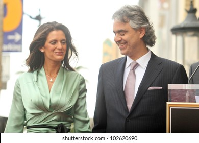 Veronica Berti and Andrea Bocelli  at the induction ceremony for Andrea Bocelli into the Hollywood Walk of Fame, Hollywood, CA. 03-02-10