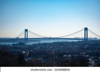 Verrazano Bridge view from Staten Island