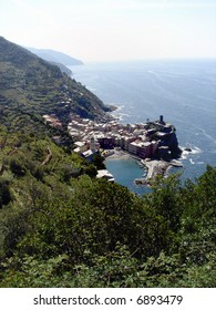 Verrnazza village in the Cinque Terre area (Liguria, Italy)