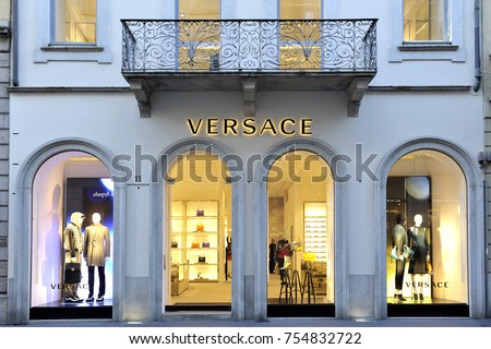 3c6a08f009 Versace boutique in Milan on november 2017 - Versace is an Italian fashion  company and trade