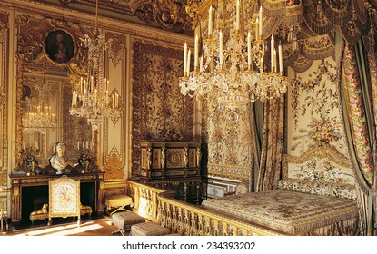Versailles, France - 10 August 2014 : Marie Antoinette room at Versailles Palace ( Chateau de Versailles ). It was added to the UNESCO list of World Heritage Sites.