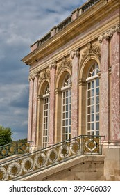 Versailles, France - august 19 2015 : the Grand Trianon in the Marie Antoinette estate in the parc of Versailles Palace