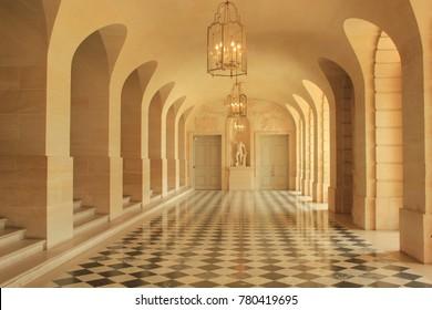 "Versailles / France : July 14th 2015 : Versailles Palace hall"""