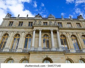 VERSAILLES, FRANCE - JULY 22, 2015: Palace of Versailles exterior