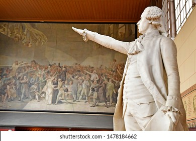 Versailles; France - june 16 2019 : the tennis court oath room