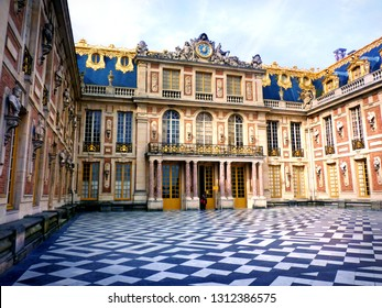 VERSAILLES, FRANCE -  March 07, 2015: Exterior of The Royal Palace of Versailles in Versailles,France.