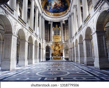 VERSAILLES, FRANCE - March 07, 2015: Royal Chapel inside the Palace of Versailles