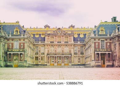 VERSAILLES, FRANCE - May 2, 2016: The Chateau de Versailles palace near Paris