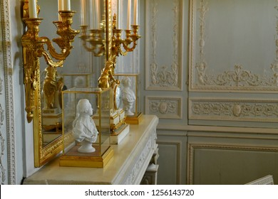 Versailles; France - october 14 2018 : Petit Trianon in the Marie Antoinette estate in the parc of Versailles Palace