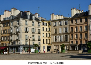 Versailles, France - september 2 2018 : the Saint Louis district near the castle