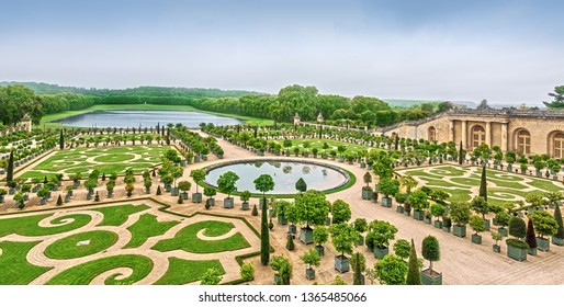 Versailles, France - September 27, 2017: Versailles is a palace and park ensemble in France, the former residence of the French kings in the city of Versailles, now a suburb of Paris.