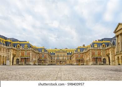 Versailles palace entrance,symbol of king louis XIV power, France.