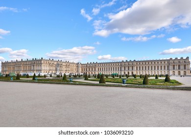 Versailles, Paris, France Oct. 13, 2017 Versailles in Île-de-France region, renowned worldwide for its château, the Château de Versailles and the gardens of Versailles.