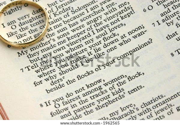 Verses Song Solomon Song Songs Wedding Stock Photo (Edit Now