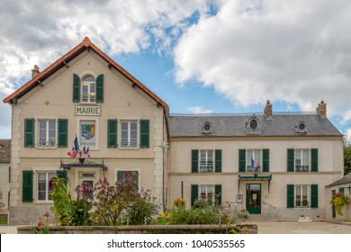 VERT LE PETIT, FRANCE - OCTOBER 9, 2015: Town Hall building located thirty-four kilometers south of Paris-Notre-Dame, in Ile de France, a picturesque village with approximately 2800 inhabitants.