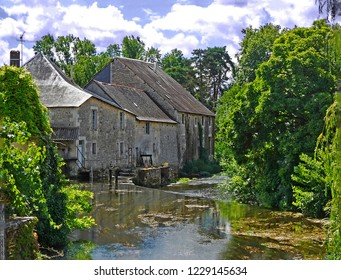 Verteuil-sur-Charante, on the banks of the River Charante is a delightful village in the Poitou-Charentes district of France. This view along the river is of the old mill house.