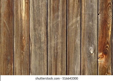 Vertical Barn Wooden Wall Planking Texture. Reclaimed Old Wood Slats Rustic Horizontal Background. Home Interior Design Element In Modern Vintage Style. Hardwood Dark Brown Timber Solid Structure