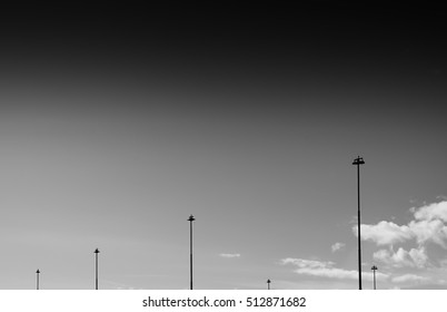 Vertical black and whitesteet city lamps background hd