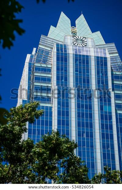 Blue Skies Of Texas >> Vertical Blue Sky Austin Texas Usa Stock Photo Edit Now