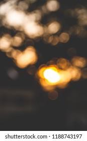 Vertical blurry sunset bokeh, abstrakt photo wallpaper