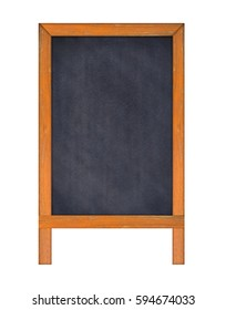 Vertical Chalkboard, Isolated on white background, Template mock up for adding your design and adding more text. (Clipping path included)