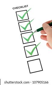 Vertical checklist
