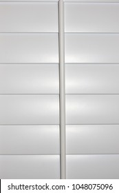 vertical closed white plantation shutters
