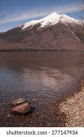 Vertical Composition Lone Peak Springtime Glacier National Park